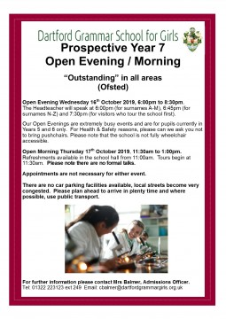 Prospective Yr 7 Open Morn-Eve Oct 2019